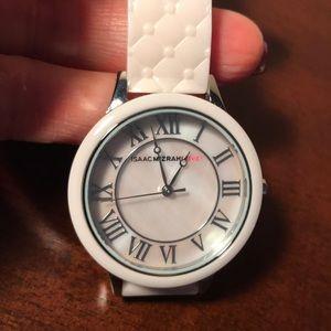 Isaac Mizrahi Ceramic Band Watch